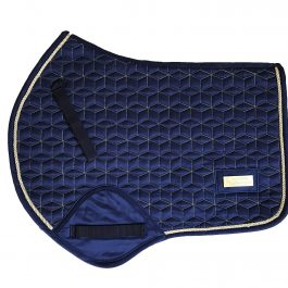 Navy Gold Geo GP/Jump Saddle Pad