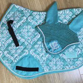 Turquoise GP/Jump Saddle Pad Set
